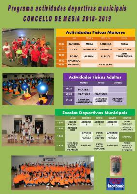 ACTIVIDADES DEPORTIVAS MESÍA 18 19