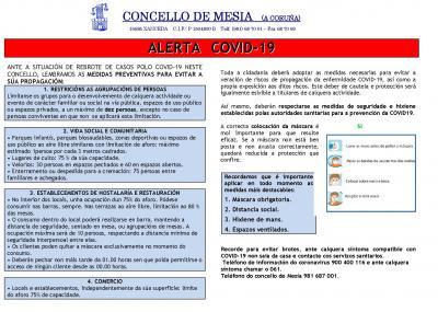 ALERTA COVID 19 - OUTUBRO 2020