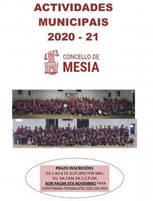 ACTIVIDADES MUNICIPAIS CONCELLO DE MESIA 2020 21
