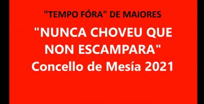 """ACTIVIDADE DE  """"TEMPO FÓRA""""  PARA MAIORES DESDE A CASA - Concello de Mesía 2021"""