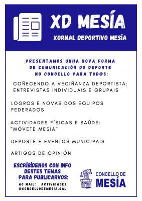 """O CONCELLO DE MESÍA PRESENTA """"MESIA XORNAL DEPORTIVO"""""""