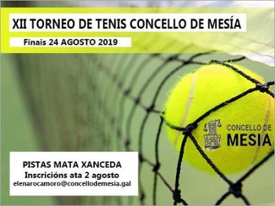 TORNEO TENIS CONCELLO DE MESIA 2019