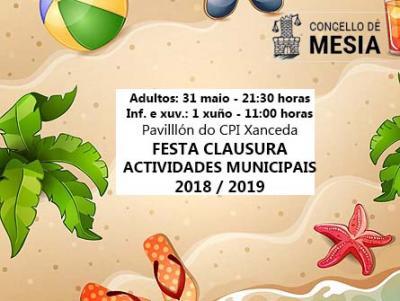 Festa clausura actividades CONCELLO DE MESIA 2019