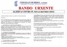 BANDO NOVAS RESTRICCIÓNS 22 OCT 2020